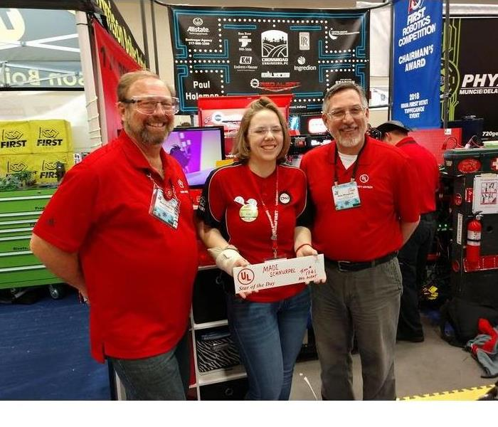 SERVPRO Owner's daughter competing in 2018 World Robotics Championships in Detroit